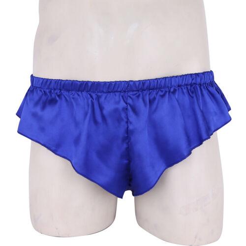 Hommes demoiselle Sissy Pouch Panties Bikini Culotte Jupe à volants de culotte sous-vêtements Thongs