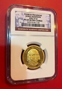Fourth-President-James-Madison-2007-S-Dollar-NGC-FAP-69-Ultra