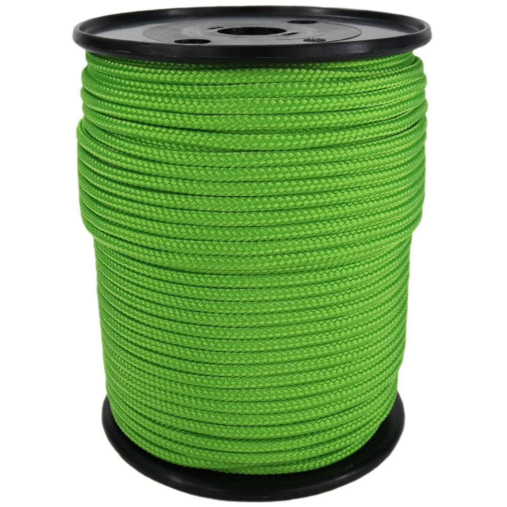 Polypropylene Rope PP 6mm 100m Neon-Green (2000) Braided