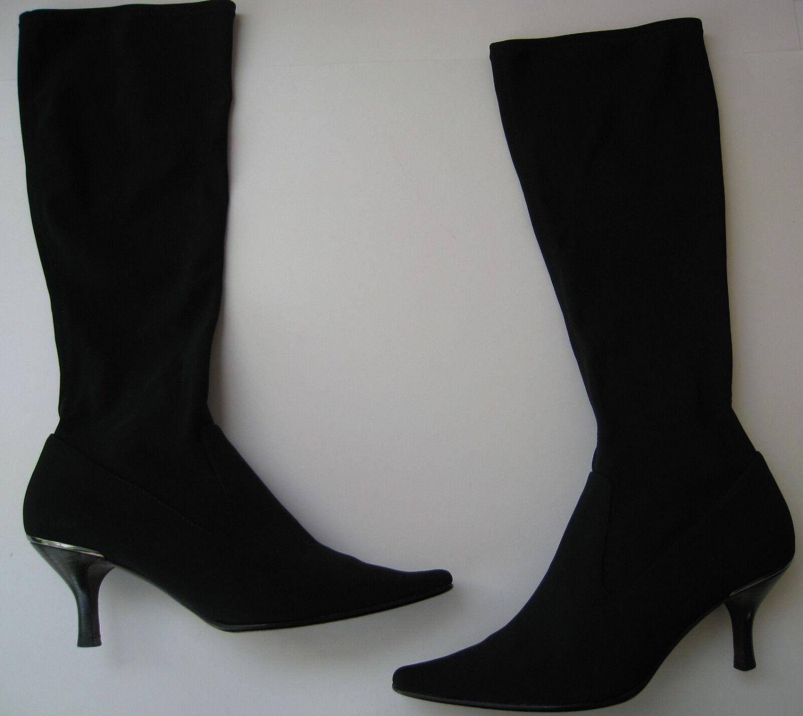 DONALD J.PLINER J.PLINER J.PLINER NIKKO TALL DRESS ELASTIC schwarz Stiefel 3  HEELS  Größe US 11M HOT 97e961