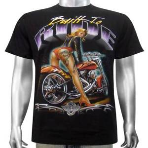 Tattoo Eagle hardtail Chopper Américain Biker moto Tee T-shirt homme M /& L