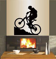 Vinyl Decal Mountain Biking Extreme Sports Bicycle Bike Man Boy Wall Sticker 337