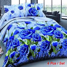 2018 4Pcs Set 3D Brushed Printed Duvet / Quilt Cover Bedding Queen King Size US