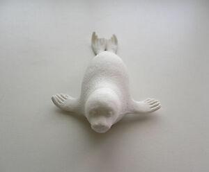 """Adorable SEAL Collectable Animal Eraser 5 1/8"""" x 2 3/4"""" BN~White~"""