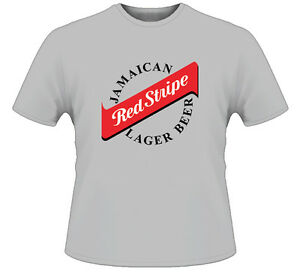 Red Stripe Jamaican Lager Beer Cool Bar Gris T Shirt