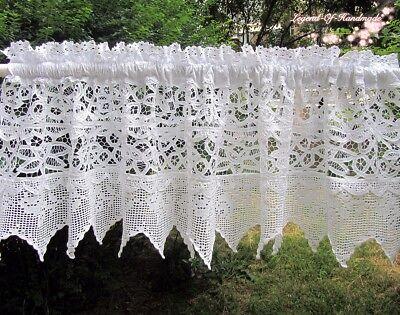 Beautiful Battenburg Lace Cafe Curtain Valance 14 58 White Original Design Curtains Drapes Linens Textiles 1930 Now
