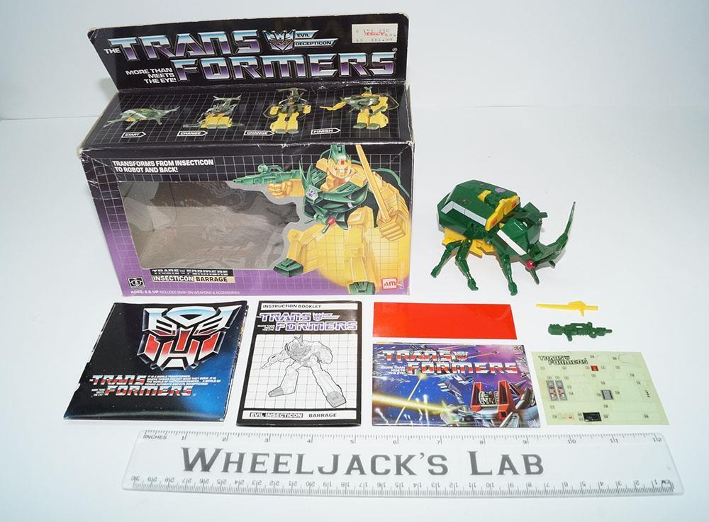 Barrage MIB 100% Complete 1985 Vintage Hasbro Action Figure G1 Transformers