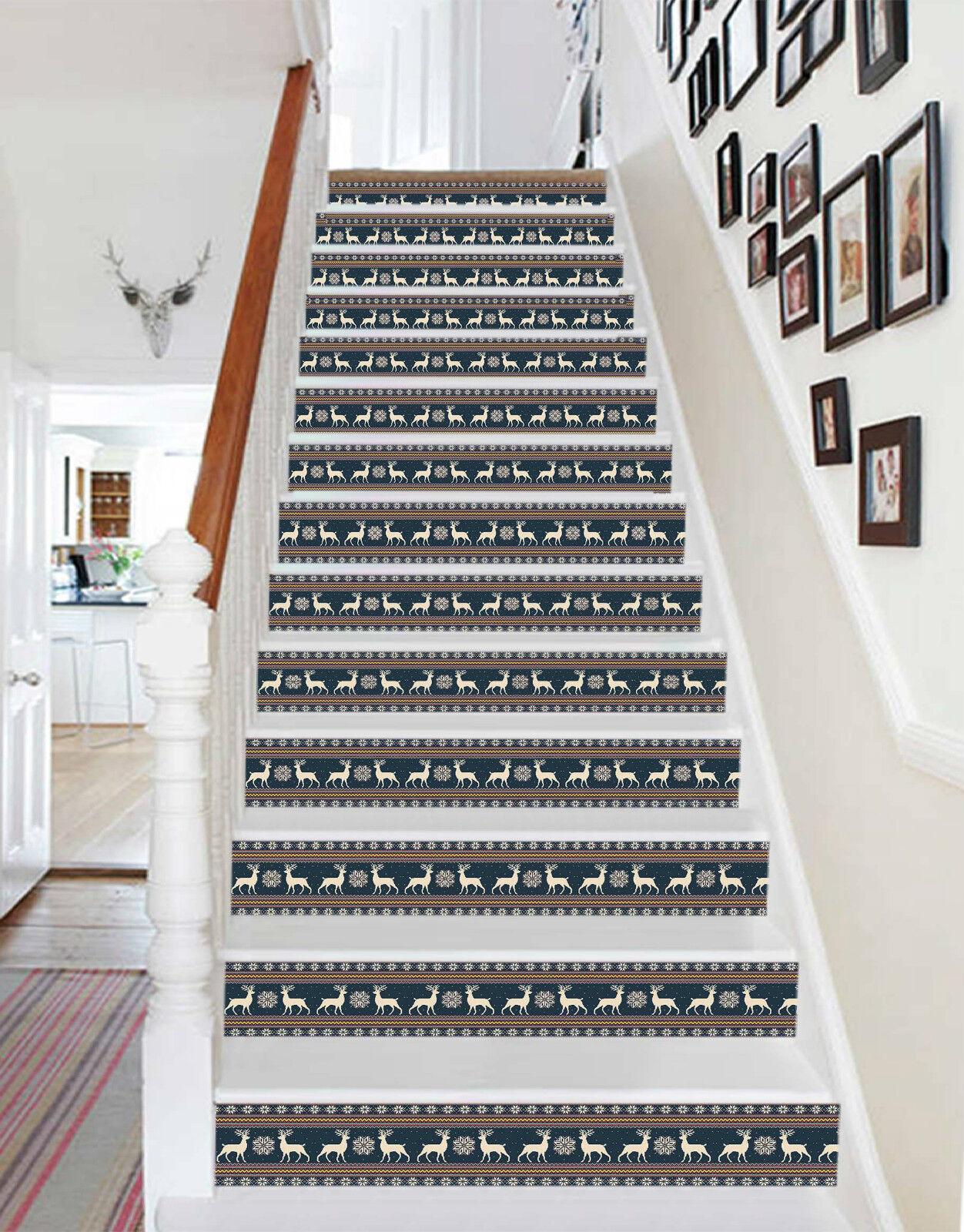 3D Deer 637 Stair Riser Dekoration Fototapete Vinyl Aufkleber Tapete DE Lemon