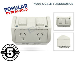 15A-Weather-Proof-Double-Power-Point-GPO-15-Amp-Socket-Waterproof-Outdoor-NEW
