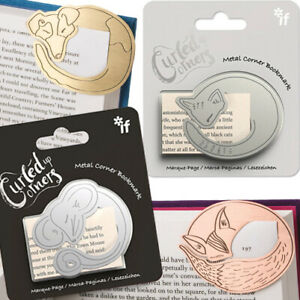 CURLED-UP-CORNERS-ANIMAL-METAL-BOOKMARK-Book-Clip-Stationery-Page-Marker-Gift