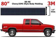 """80"""" Roll Chrome Body Side Molding For 1988-1998 Chevrolet GMC Full Size Trucks"""
