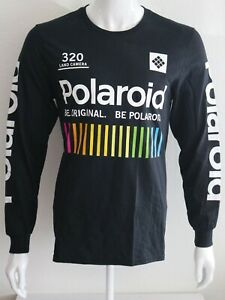 Polaroid-Mens-Graphic-Tee-Black-Sizes-S-M-L-XL-T-Shirt-100-Cotton