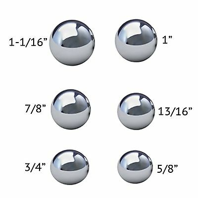 """Assortment Of 1/"""" 3//4/"""" /& 5//8/"""" Assorted Coin Ring Making Steel Balls 7//8/"""""""