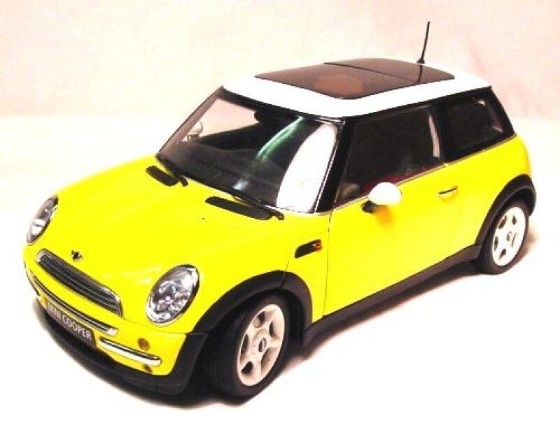 Mini Cooper in yellow yellow yellow   white 1 18 Kyosho 08551Y NEU & OVP d67562