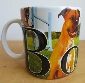 Boxer-Dog-Large-20-oz-Raised-3D-Coffee-Mug-Cup-AMERICAWARE-2007-Jumbo-Oversized