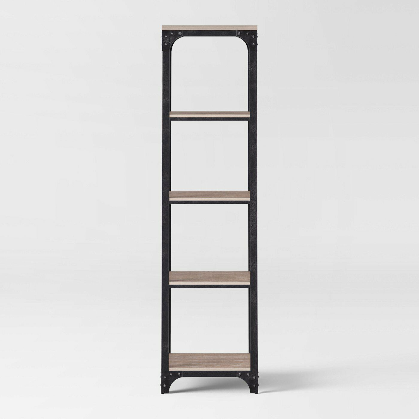 Threshold 72 Franklin 5 Shelf Narrow Bookcase Gray