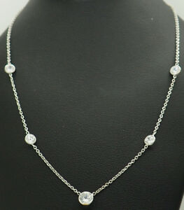 Vintage-14K-White-Gold-1-70ctw-Round-Cubic-Zirconia-By-the-Yard-Necklace-16-034