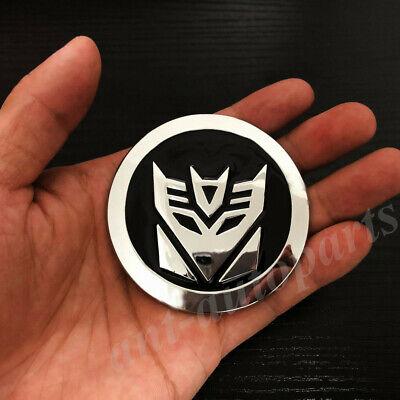 AxleZx Chrome Metal Transformers Autobots Logo Car Emblem Self-Luminous Badge Premium 3D Sticker Auto Decals Silver