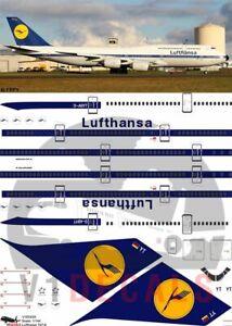 V1 Decals Boeing 747-8 Lufthansa Retro for 1/144 Revell Model Airplane Kit