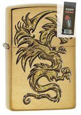 Zippo Dragon Design Lighter Brushed Brass #29725
