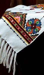 Ukraine-RUSHNYK-Hand-Cross-Stitch-Embroidery-200x33-cm-Rustic-WEDDING-Towel