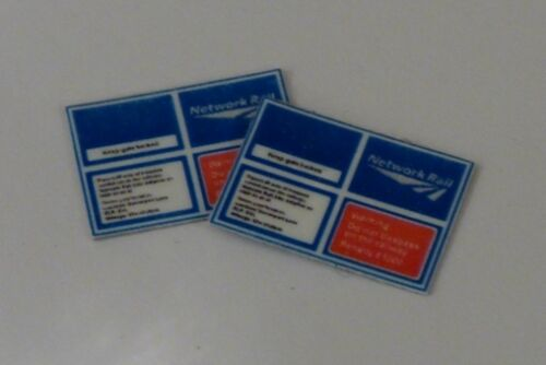 4 x OO Scale Network Rail Access Gate Signs No Electrification Version