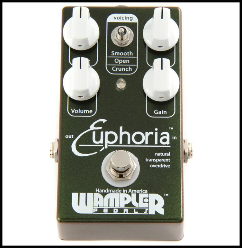 Wampler Euphoria Overdrive Guitar Effects Pedal Transparent Overdrive