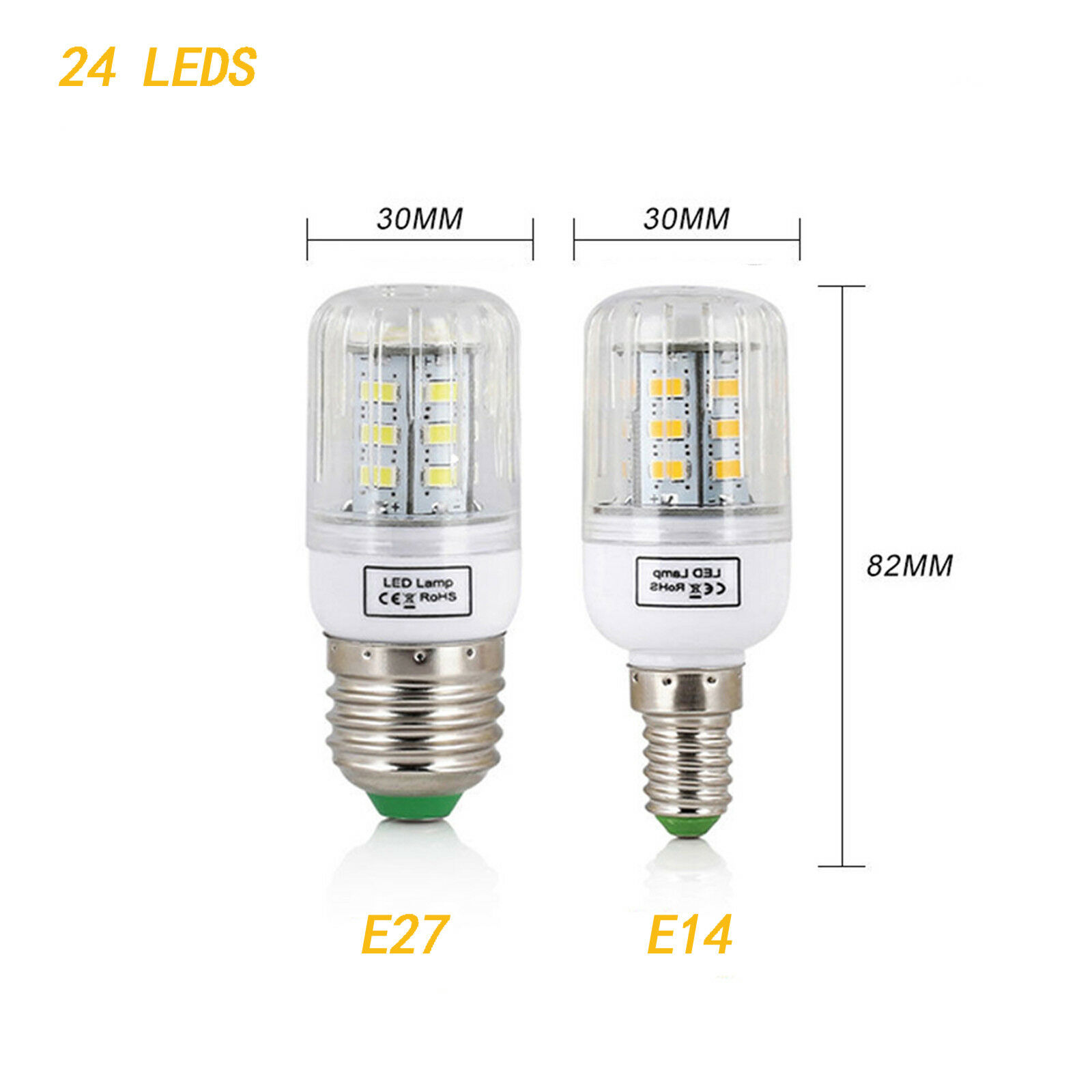 E27 E14 7W 9W 12W 15W 20W 25W 5730 SMD LED Corn Bulb Lamp Light Bright 110/220V 8