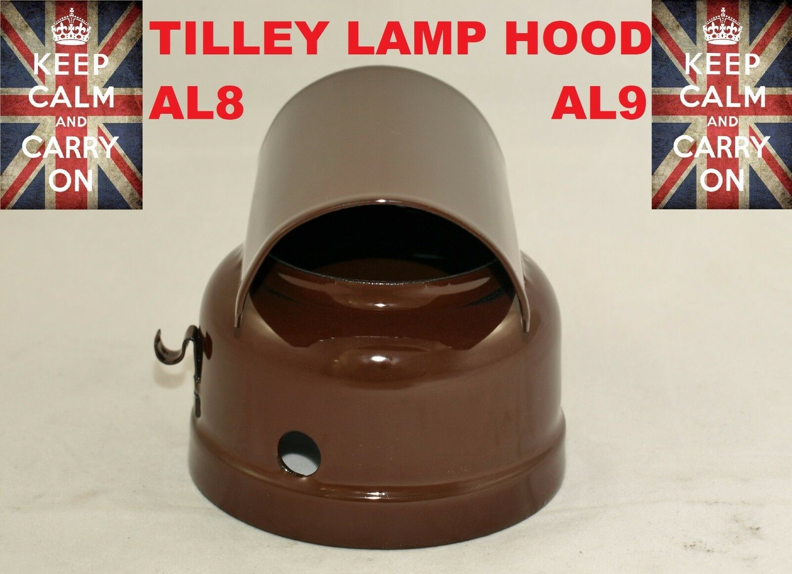 TILLEY LAMP HOOD AL8   AL8 VITREOUS ENAMELLED KEpinkNE LAMP PARAFFIN LAMP