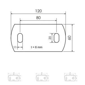 Ankerplatte Edelstahl Platte Ankerplatten V2A Platten 100x50 120x60 120x80