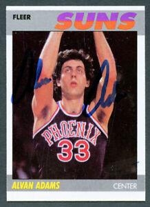 Alvan Adams #2 signed autograph auto 1987-88 Fleer Basketball Trading Card