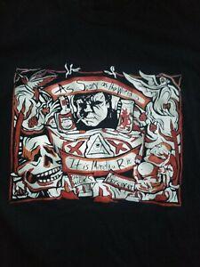 American Apparel so beängstigend wie Welt ist... Bill Hicks Tshirt schwarz Größe Medium