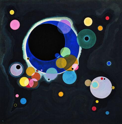 Wassily Kandinsky - Molti Cerchi Vintage Stampa Artistica