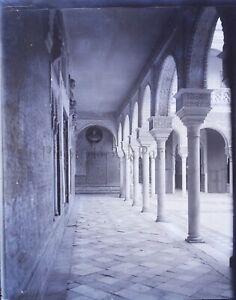 ESPAGNE-Palais-c1900-NEGATIF-Photo-Stereo-Plaque-Verre-VR10L9n21