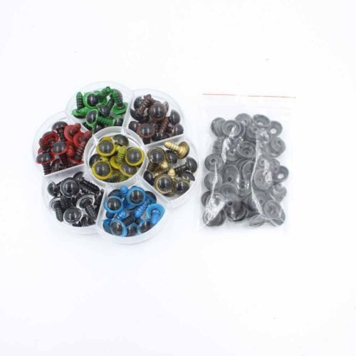 12mm Mix Color Plastic Safety Eyes For Teddy Bear Doll Animal Puppet Craft Box