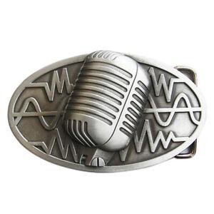 Adroit Microphone I Boucle De Ceinture Bande Hard Rock Music Teacher Dj Mc Microphone Chanteur Promouvoir La Santé Et GuéRir Les Maladies