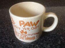 Vintage Git Yer Coffe Paw Hillbilly Coffee Mug Orange And Cream