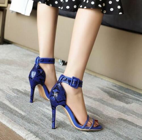 Details about  /Size 34-48 Womens Snakeskin Pattern Stilettos High Heels Party Pump Sandal Shoes