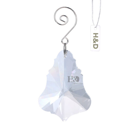 Clear Crystal Maple Leaf Drops Pendants Hanging Chandelier Lamp Prisms 76mm