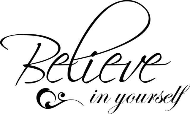 Believe in Yourself Decor Cute vinyl wall decal quote sticker Inspirational