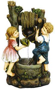 Fontana con bimbi su pozzo in resina da giardino ebay - Fontane da giardino ebay ...