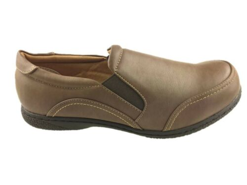 ROHDE LADIES SLIP ON FLAT SOFT WALKING COMFORT SHOES GRIP SOLE BROWN SIZE 5-6 NE
