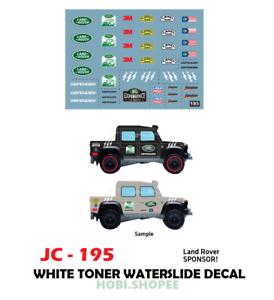 Jc 9195 White Toner Waterslide Decal Land Rover Sponsor Custom 1 64 Hot Wheels Ebay