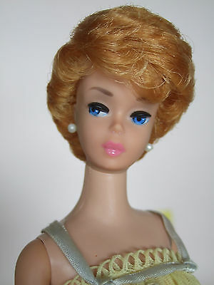 VINTAGE BARBIE platinum bubblecut 1961 doll with outfi  w VHTF/painted legs