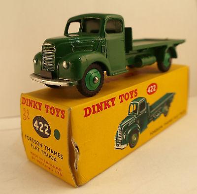Dinky Gb Nr Autos, Lkw & Busse 422 Tablett Fordson Thames Lastwagen Flat Lkw In Schachtel