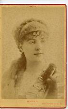 Vintage Cabinet Card Marguerite Brésil French Stage Actress Nadar Photo Paris