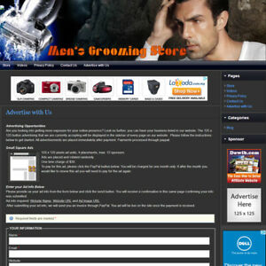 MEN's GROOMING STORE - Expert Affiliate Website Business For Sale (FREE Domain)