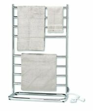 Electric Heated Towel Rack Standing Warmer Drying Rail Bathroom Stand Chrome