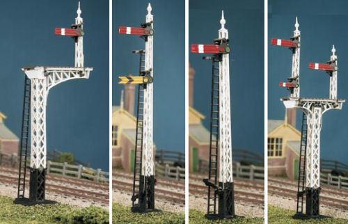 HO/OO gauge LNER Latticed Post (4 Signals inc. Jcn/Brackets) Ratio 486 free post