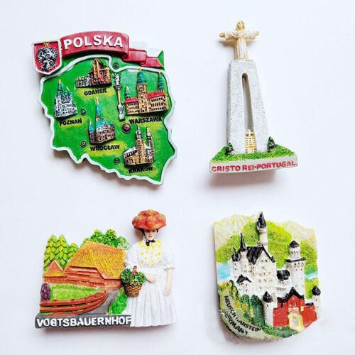 3D Deutschland Portugal kreative Magnete Souvenir Magnetic Stickers Dekoration